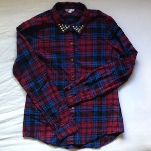 Volcom Plaid Flannel Long Sleeve Studded
